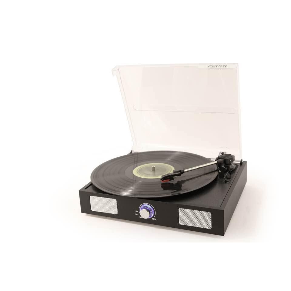 FENTON RP108B RECORD PLAYER/SPEAKERS BLACK