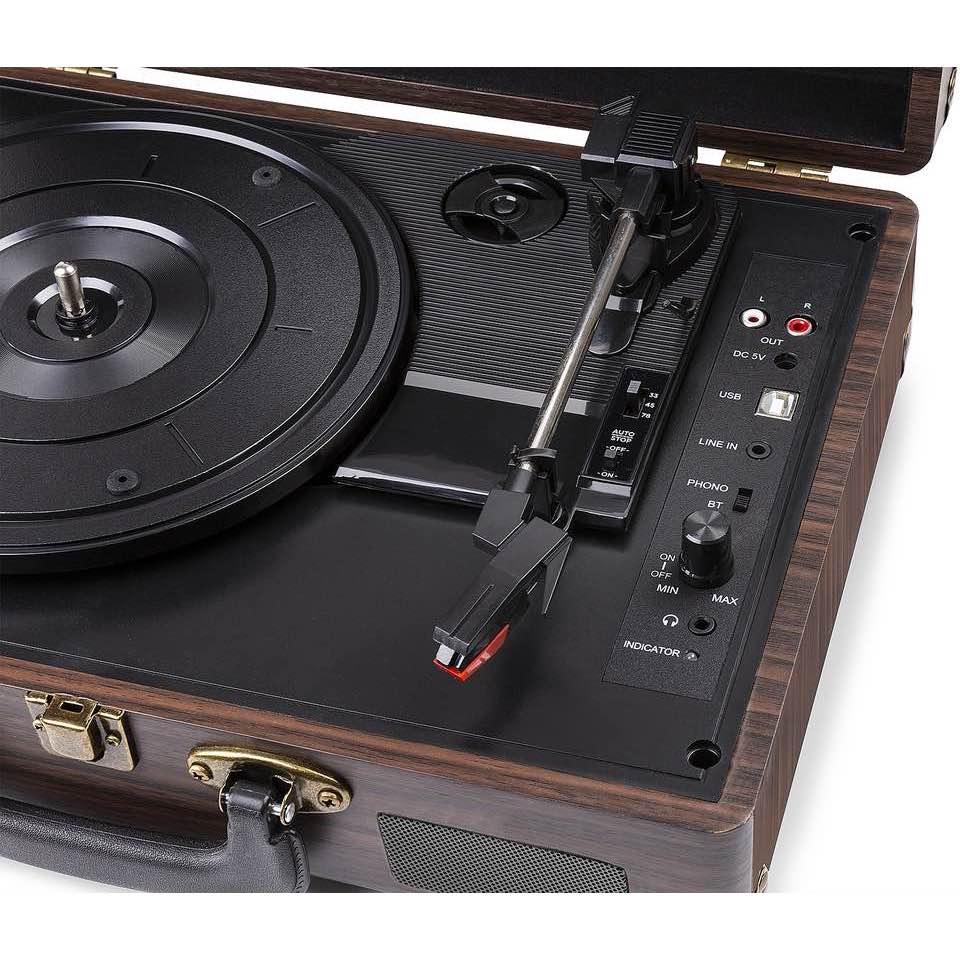 FENTON RP115B RECORD PLAYER BT BROWN WOOD