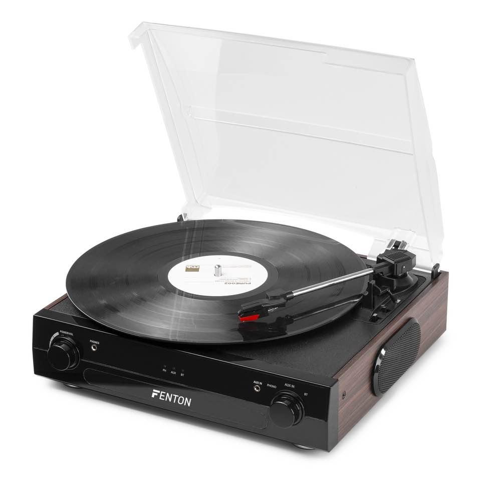 FENTON RP102B RECORD PLAYER BT BLACK/WOOD