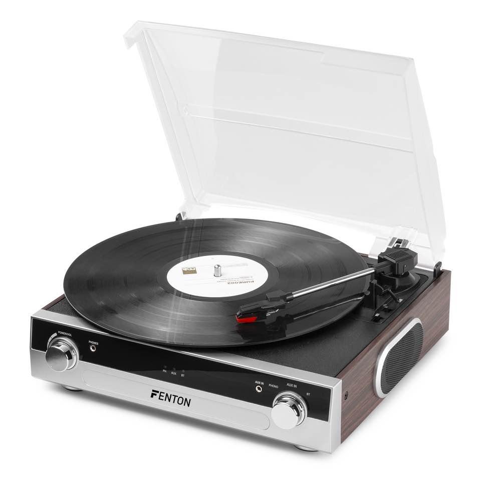 FENTON RP102A RECORD PLAYER BT ALUM/WOOD