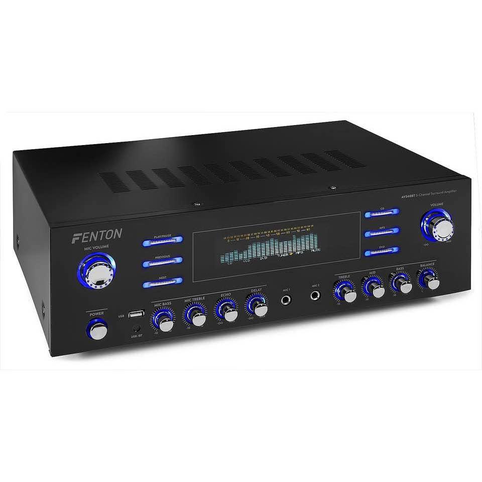 FENTON AV340BT 5CH HQ SURROUND AMP.