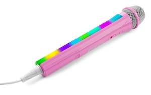 FENTON KMD55P MICROFONO KARAOKE CON ILLUMINAZIONE RGB - ROSA
