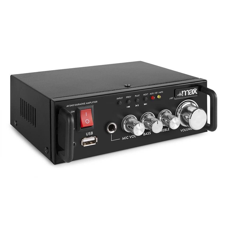 MAX AV340 KARAOKE AMPLIFIER BT. USB