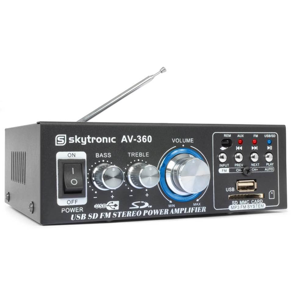 SKYTRONIC AV-360 AMPLIFIER FM/USB/SD