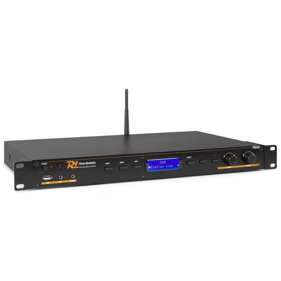POWER DYNAMICS PDC40 DAB+/FM/MP3 PLAYER 1U