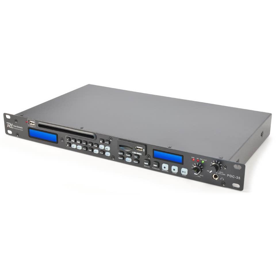 POWER DYNAMICS PDC-35 DIGITAL RECORDER, CD/USB/SD