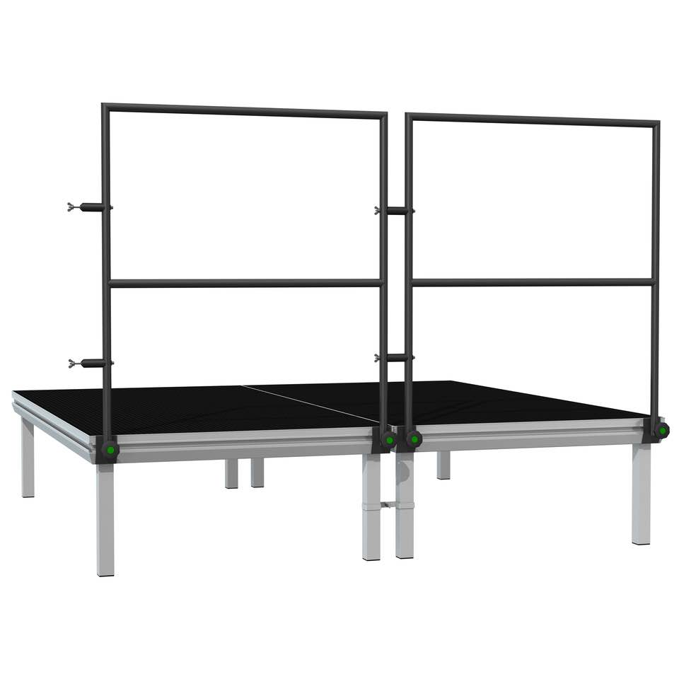 POWER DYNAMICS 750HR STAGE HANDRAIL 2M INCL CLAMPS