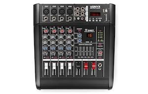 VONYX AM5A MIXER A 5 CANALI CON AMPLIFICATORE DSP/BT/SD/USB/MP3